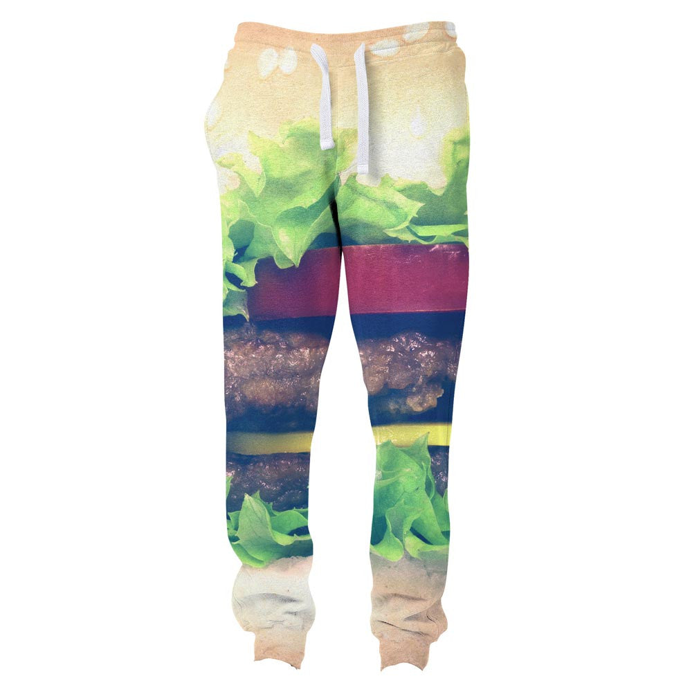 Burger Joggers-Shelfies-S-| All-Over-Print Everywhere - Designed to Make You Smile