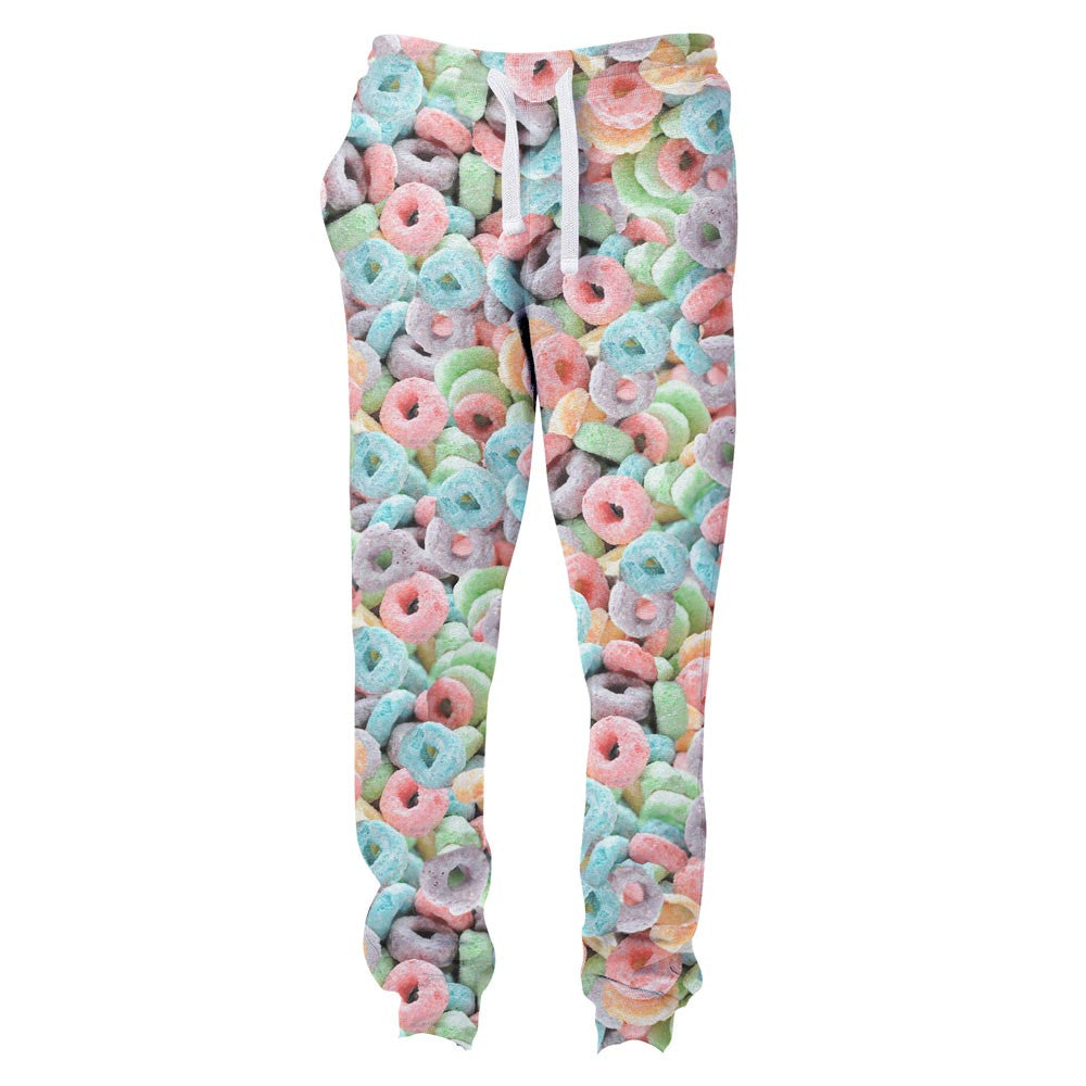 Cereal Invasion Joggers-Shelfies-| All-Over-Print Everywhere - Designed to Make You Smile