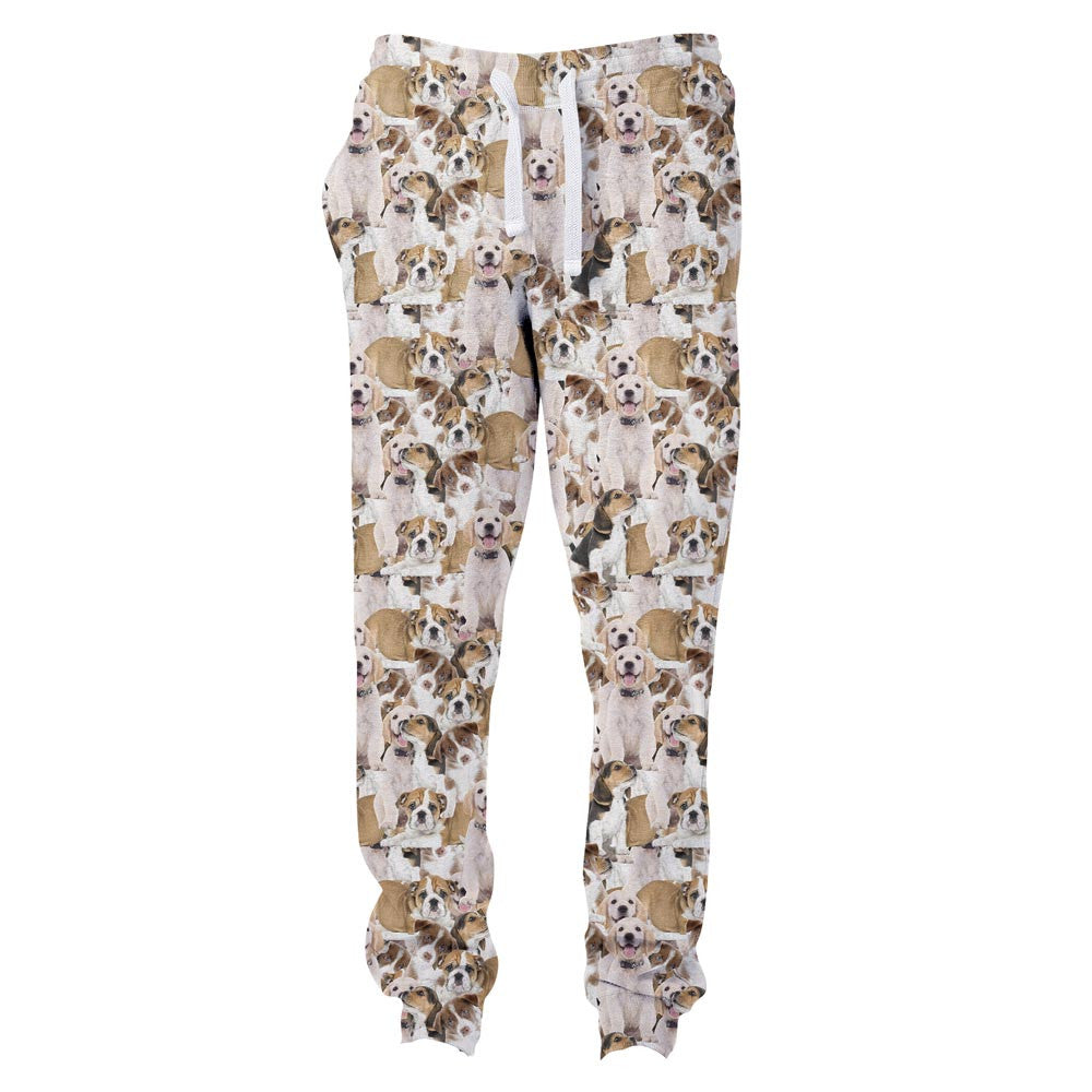 Doggy Invasion Joggers-Shelfies-| All-Over-Print Everywhere - Designed to Make You Smile