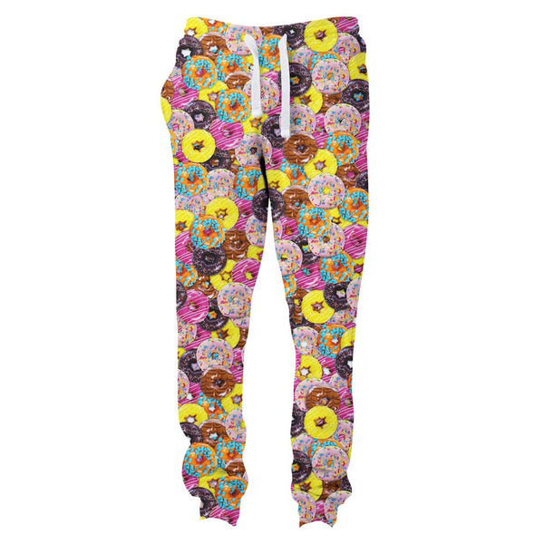 Donuts Invasion Joggers-Shelfies-S-| All-Over-Print Everywhere - Designed to Make You Smile