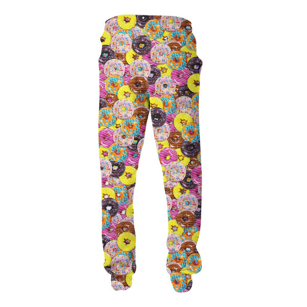 Donuts Invasion Joggers-Shelfies-| All-Over-Print Everywhere - Designed to Make You Smile