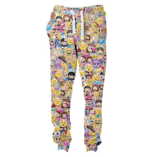 Emoji Invasion Joggers-Shelfies-| All-Over-Print Everywhere - Designed to Make You Smile