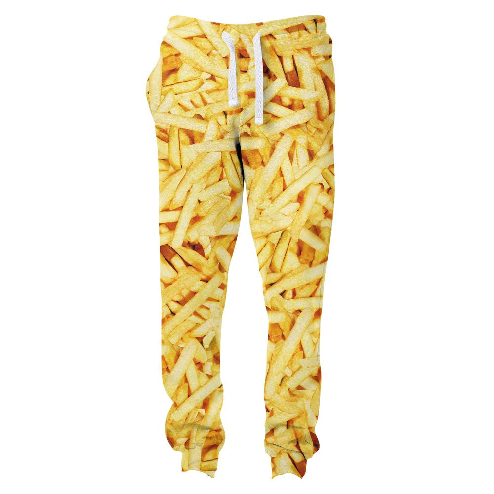 French Fries Invasion Joggers-Shelfies-S-| All-Over-Print Everywhere - Designed to Make You Smile