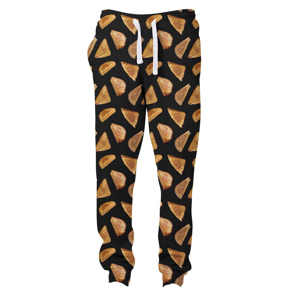 Grilled Cheese Joggers-Shelfies-S-| All-Over-Print Everywhere - Designed to Make You Smile