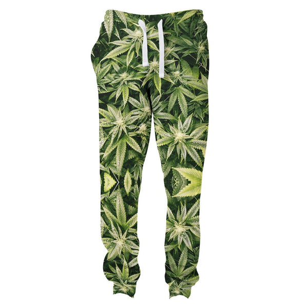 Kush Leaves Joggers-Shelfies-| All-Over-Print Everywhere - Designed to Make You Smile