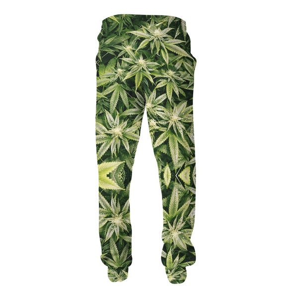 Kush Leaves Joggers-Shelfies-S-| All-Over-Print Everywhere - Designed to Make You Smile