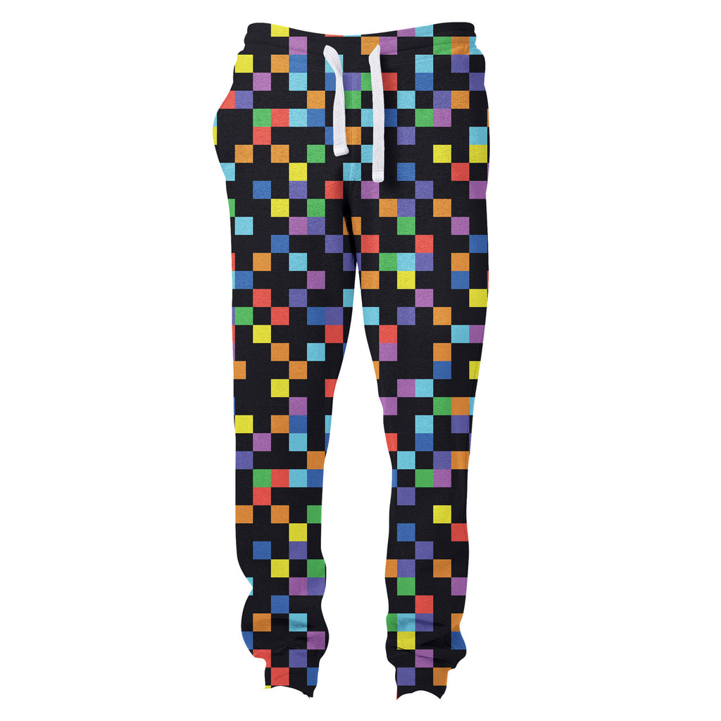 Pixel Joggers-Shelfies-| All-Over-Print Everywhere - Designed to Make You Smile