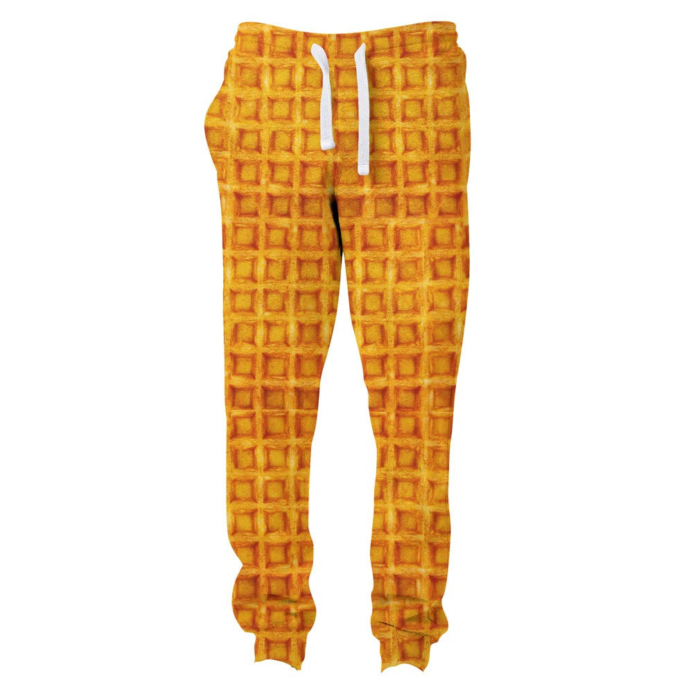 Waffle Invasion Joggers-Shelfies-| All-Over-Print Everywhere - Designed to Make You Smile