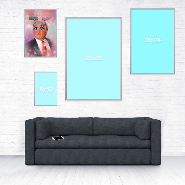 Kawaii Trump Poster-Shelfies-12 x 18-| All-Over-Print Everywhere - Designed to Make You Smile