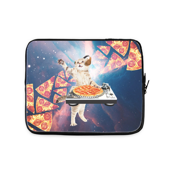 DJ Pizza Cat Laptop Sleeve-Gooten-10 inch-| All-Over-Print Everywhere - Designed to Make You Smile