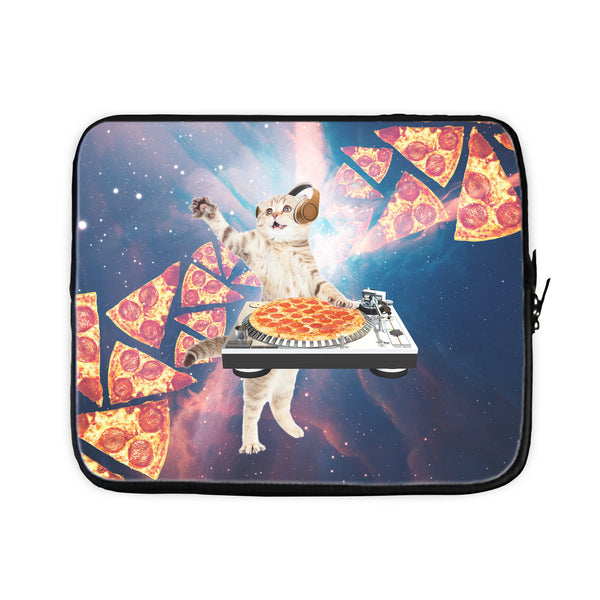 DJ Pizza Cat Laptop Sleeve-Gooten-17 inch-| All-Over-Print Everywhere - Designed to Make You Smile