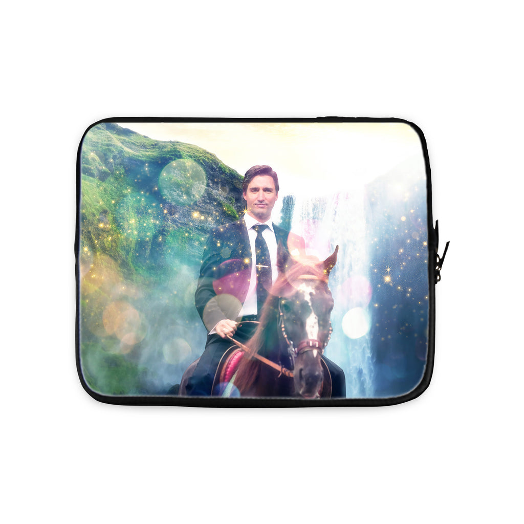 Dreamy Trudeau Laptop Sleeve-Gooten-10 inch-| All-Over-Print Everywhere - Designed to Make You Smile
