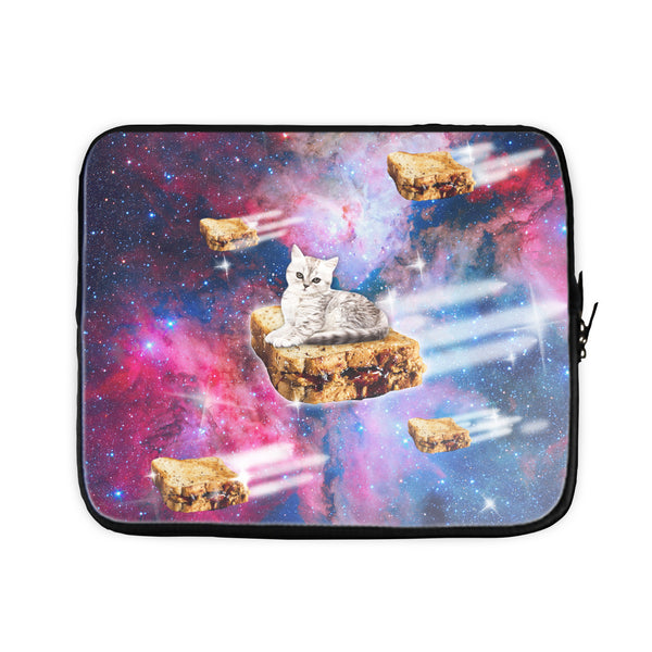 PB&J Galaxy Cat Laptop Sleeve-Gooten-17 inch-| All-Over-Print Everywhere - Designed to Make You Smile