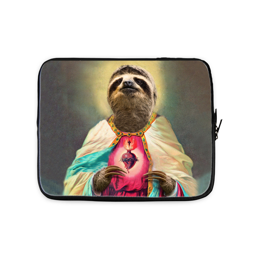 Sloth Jesus Laptop Sleeve-Gooten-10 inch-| All-Over-Print Everywhere - Designed to Make You Smile