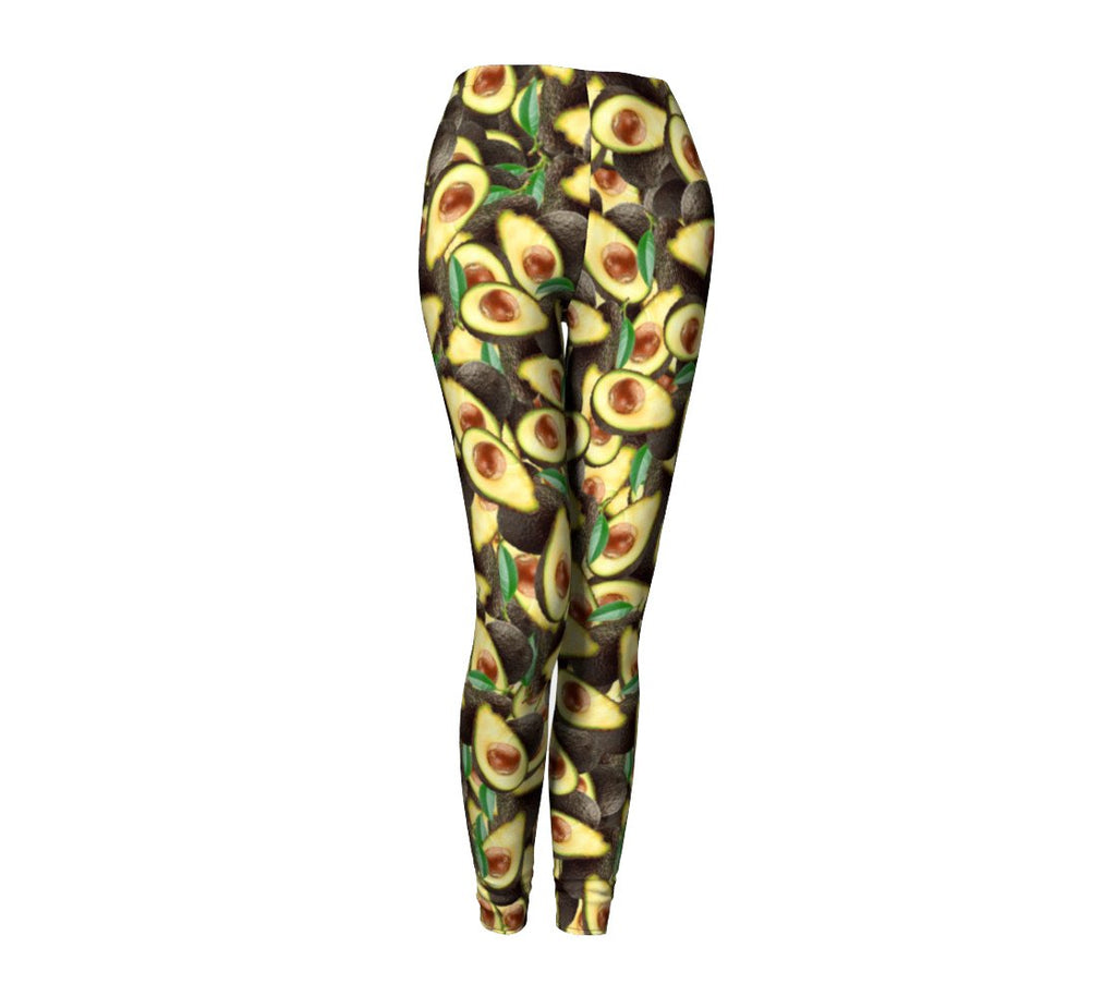 Avocado Invasion Leggings-Shelfies-| All-Over-Print Everywhere - Designed to Make You Smile