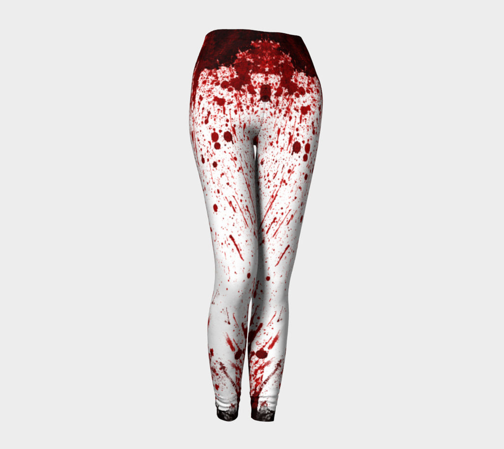 Blood Splatter Leggings-Shelfies-| All-Over-Print Everywhere - Designed to Make You Smile
