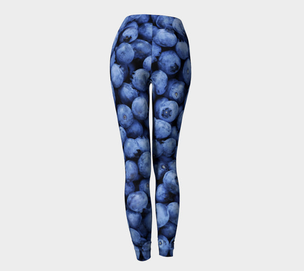 Blueberry Invasion Leggings-Shelfies-| All-Over-Print Everywhere - Designed to Make You Smile