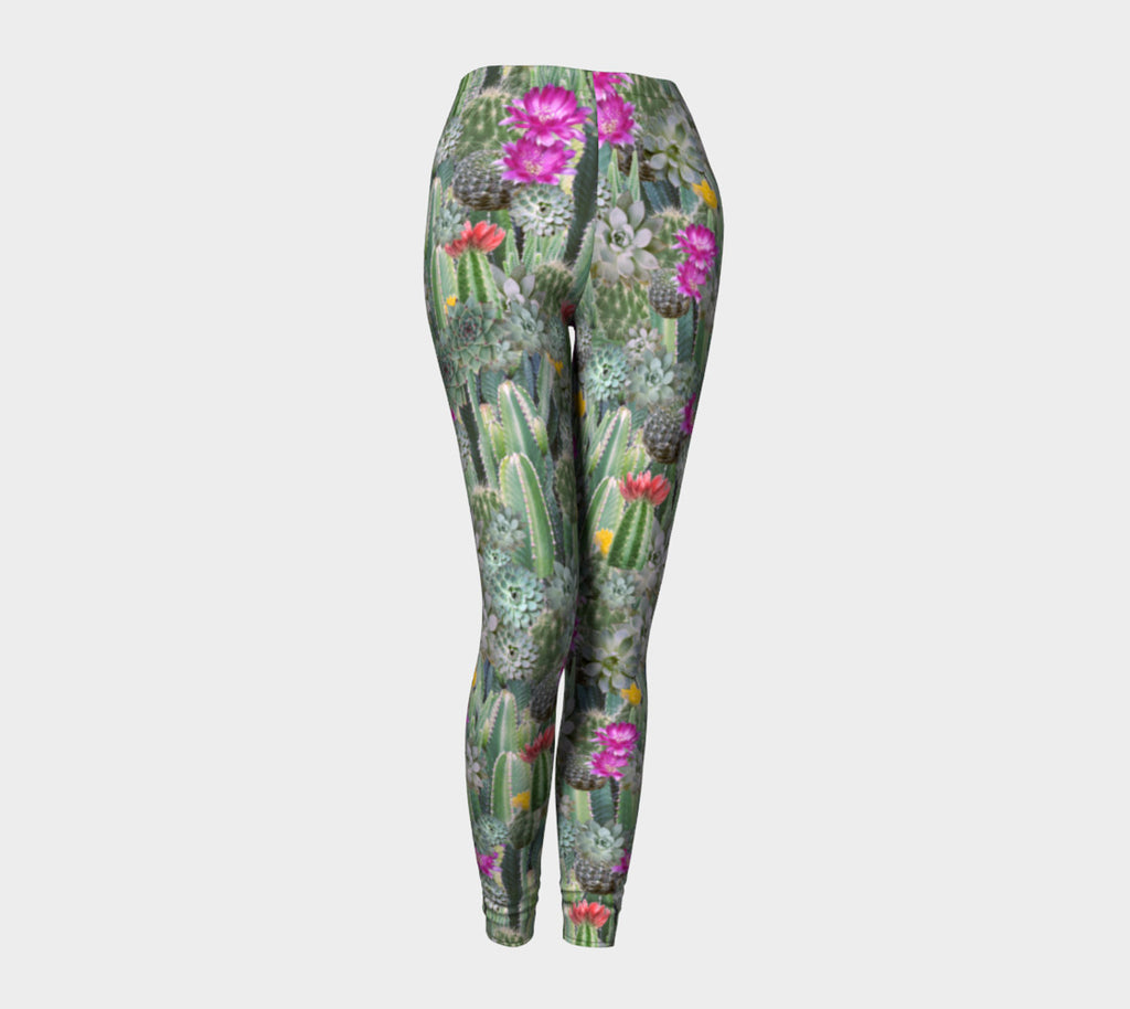 Cacti Invasion Leggings-Shelfies-| All-Over-Print Everywhere - Designed to Make You Smile