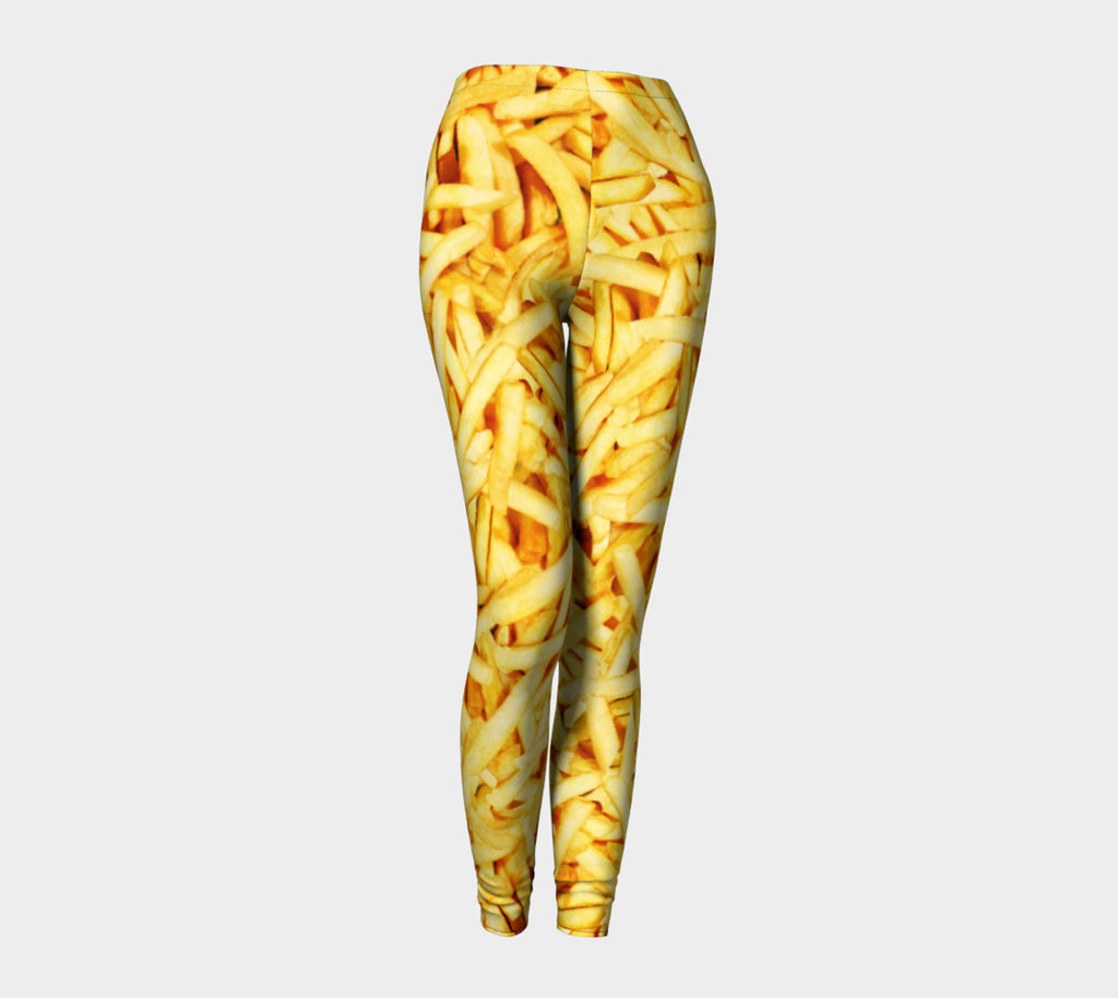 French Fries Invasion Leggings-Shelfies-| All-Over-Print Everywhere - Designed to Make You Smile