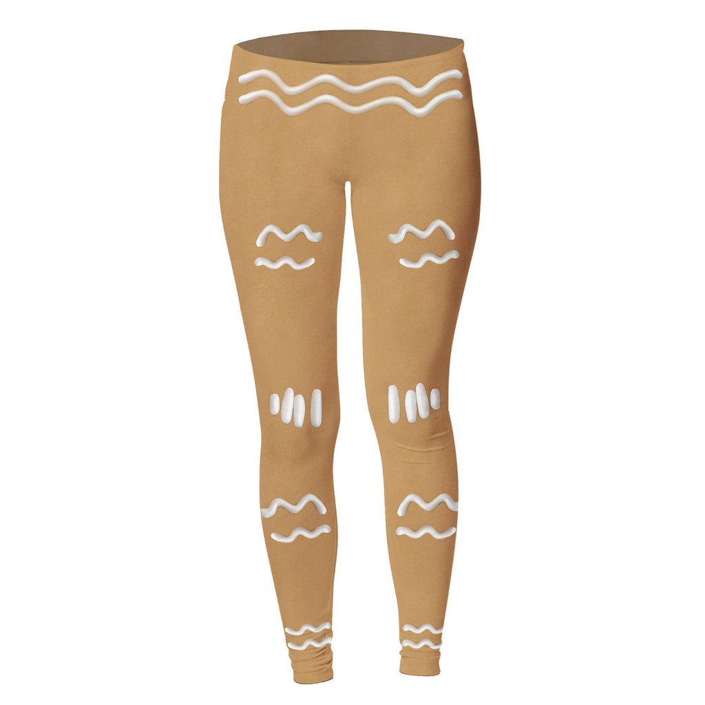 Gingerbread Man Leggings-Shelfies-| All-Over-Print Everywhere - Designed to Make You Smile