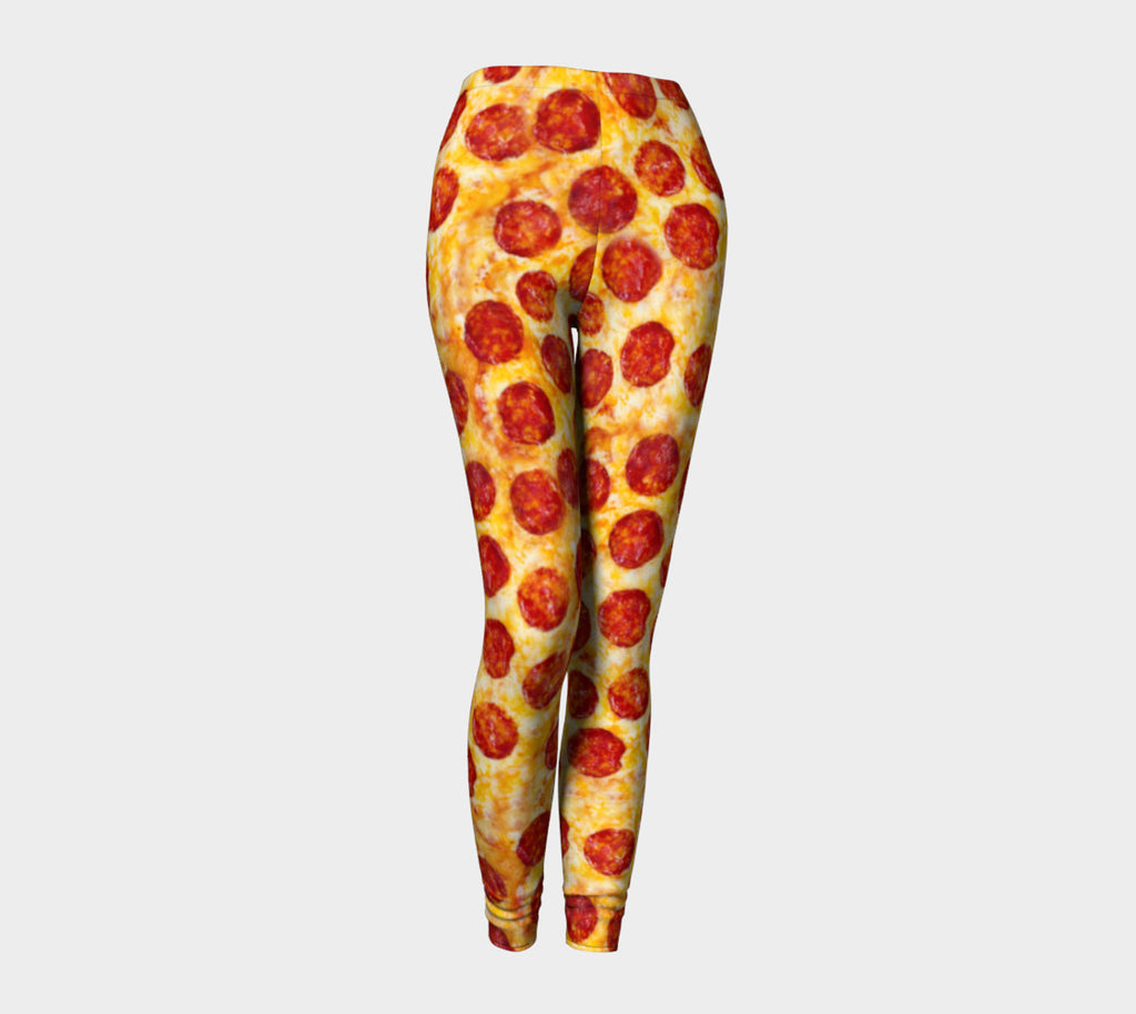Pizza Invasion Leggings-Shelfies-| All-Over-Print Everywhere - Designed to Make You Smile