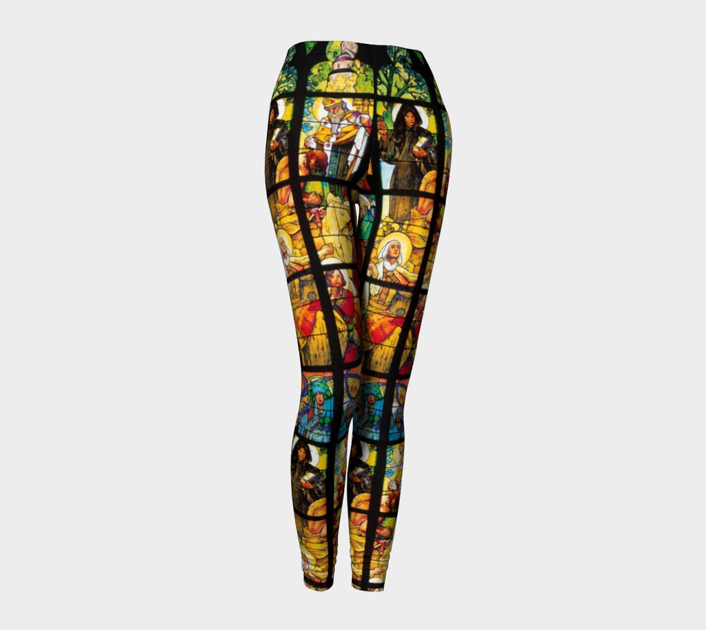 Stained Glass Leggings-Shelfies-| All-Over-Print Everywhere - Designed to Make You Smile
