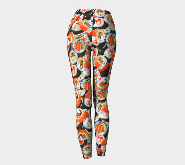 Sushi Invasion Leggings-Shelfies-| All-Over-Print Everywhere - Designed to Make You Smile