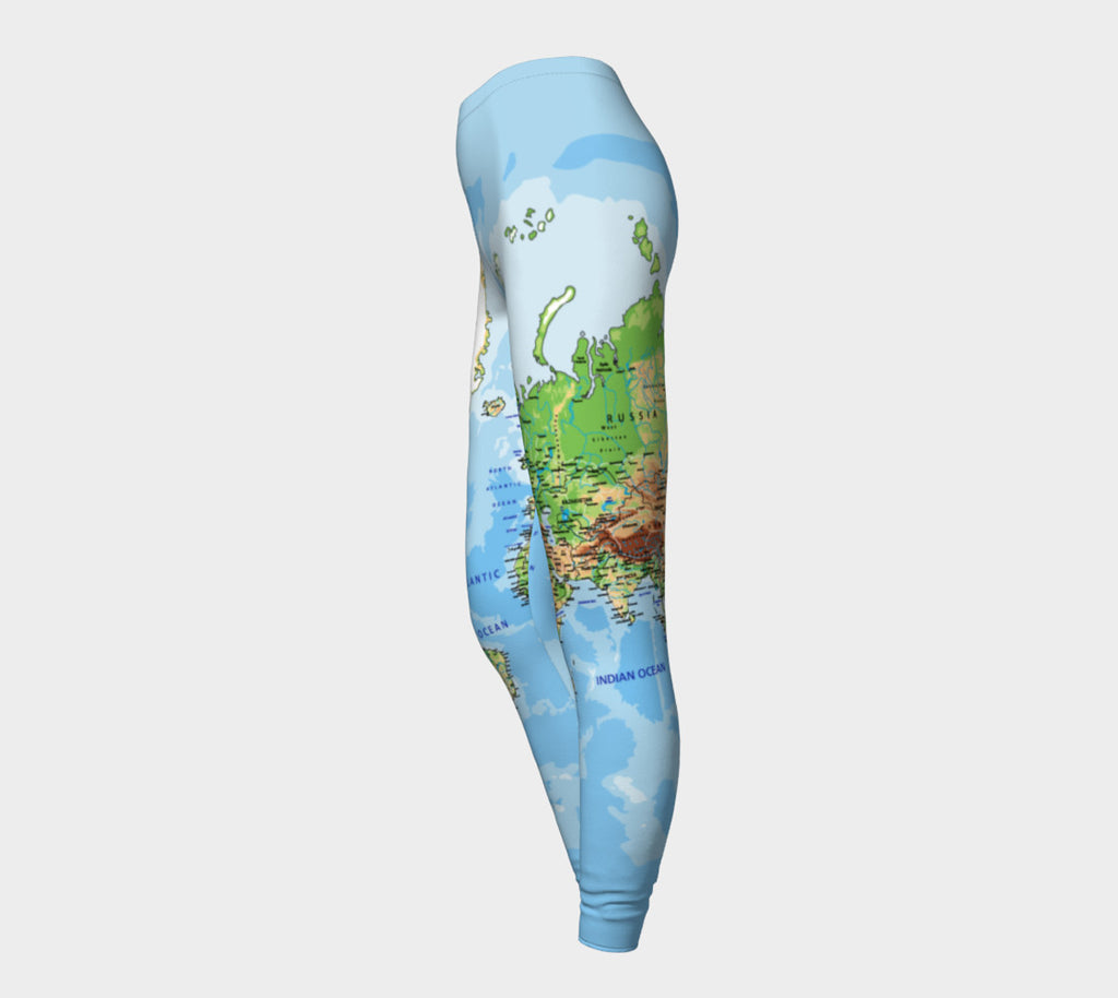 be2dfb48e592a World Map Leggings-Shelfies-| All-Over-Print Everywhere - Designed to