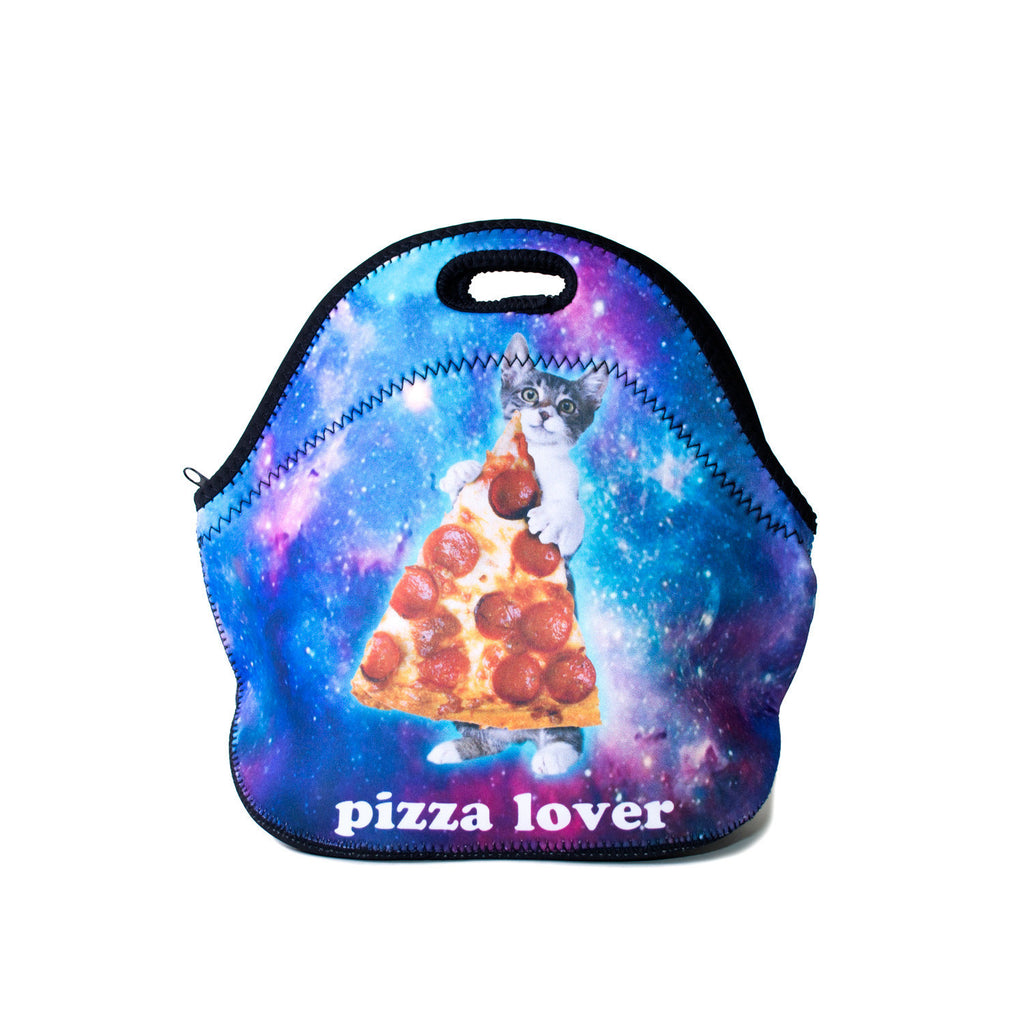 Galactic Pizza Cat Lunch Bag-Shelfies-One Size-| All-Over-Print Everywhere - Designed to Make You Smile
