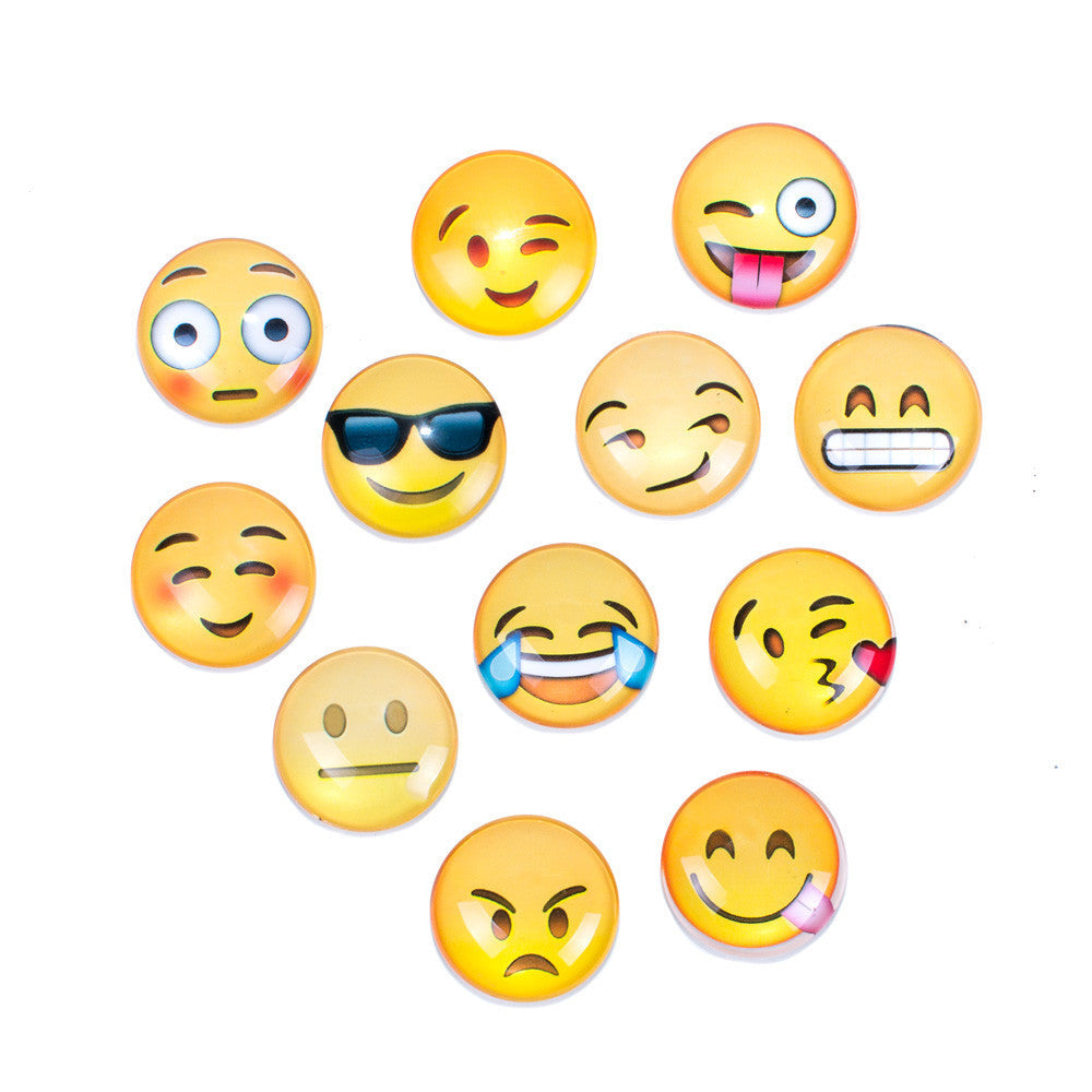 Emoji Magnets 12-Pack-Shelfies-One Size-| All-Over-Print Everywhere - Designed to Make You Smile