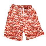 Bacon Invasion Men's Shorts-Shelfies-| All-Over-Print Everywhere - Designed to Make You Smile