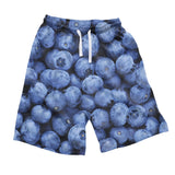 Blueberry Men's Shorts - Shelfies | All-Over-Print Everywhere - Designed to Make You Smile