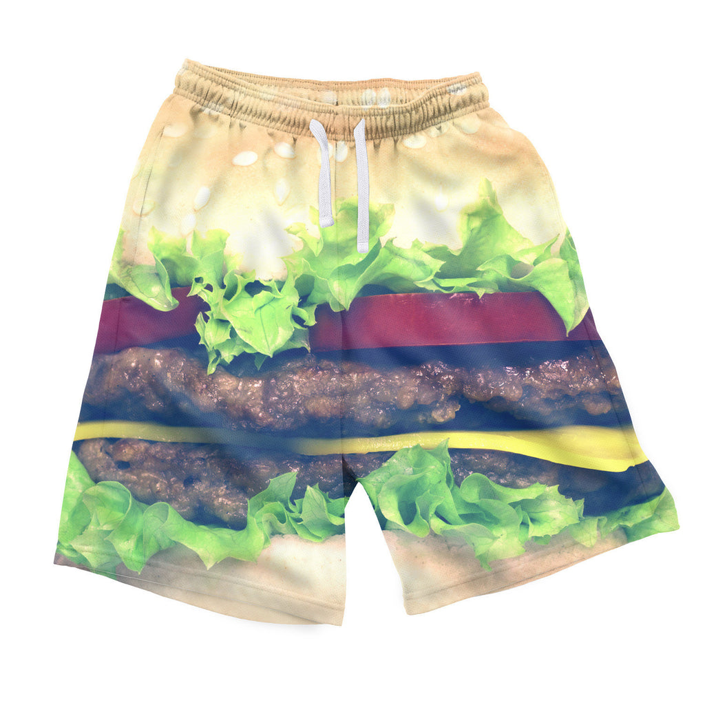 Burger Men's Shorts-Shelfies-| All-Over-Print Everywhere - Designed to Make You Smile