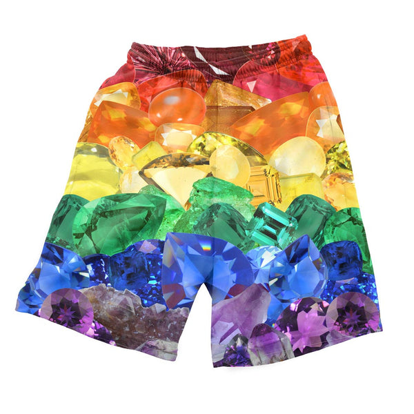 Crystal Pride Men's Shorts-Shelfies-| All-Over-Print Everywhere - Designed to Make You Smile