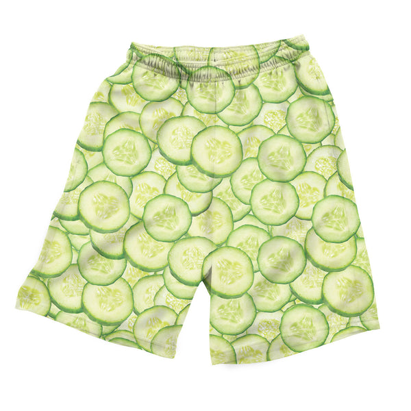 Cucumber Invasion Men's Shorts-Shelfies-| All-Over-Print Everywhere - Designed to Make You Smile