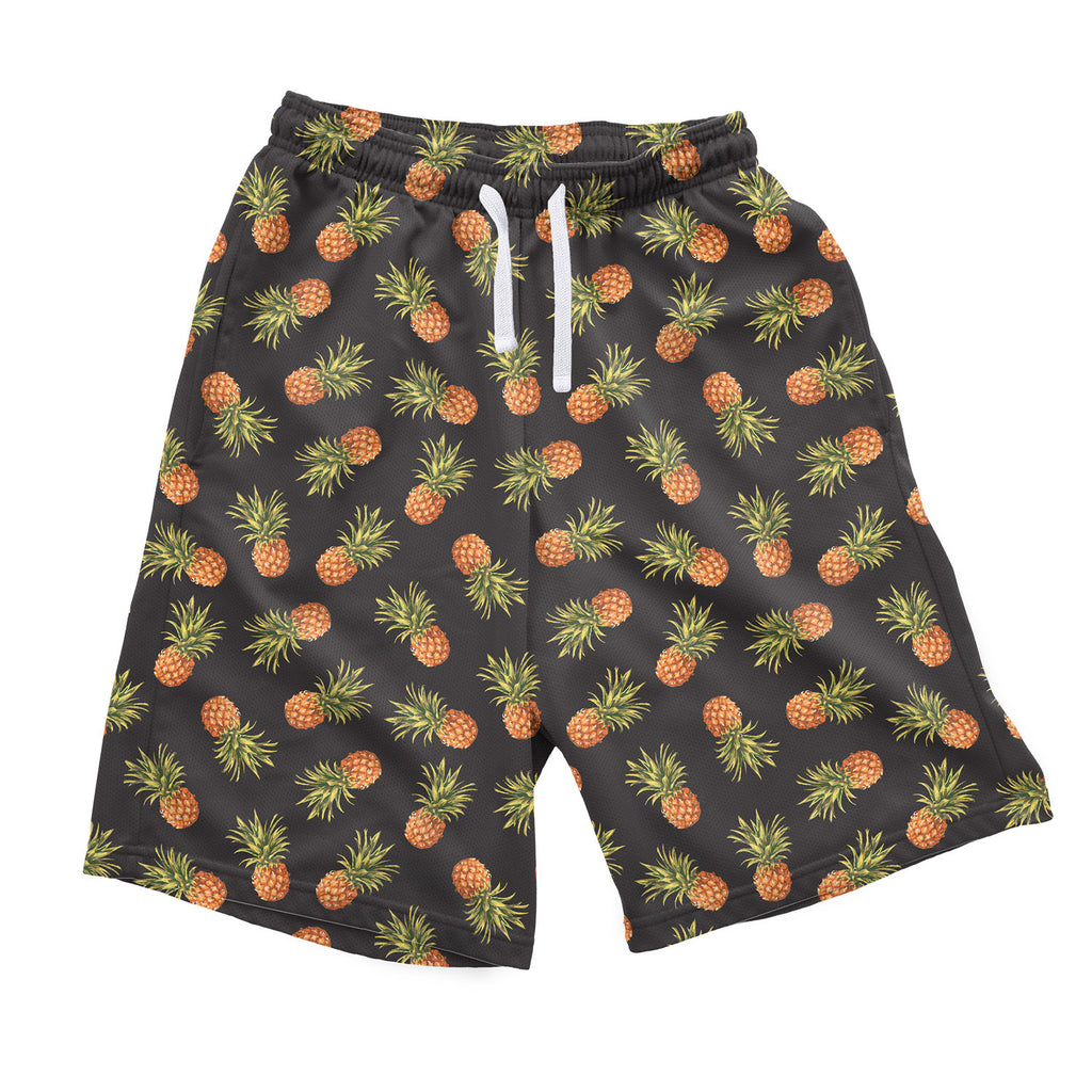 Dark Pineapple Men's Shorts-Shelfies-S-| All-Over-Print Everywhere - Designed to Make You Smile