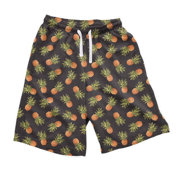 Dark Pineapple Men's Shorts-Shelfies-| All-Over-Print Everywhere - Designed to Make You Smile