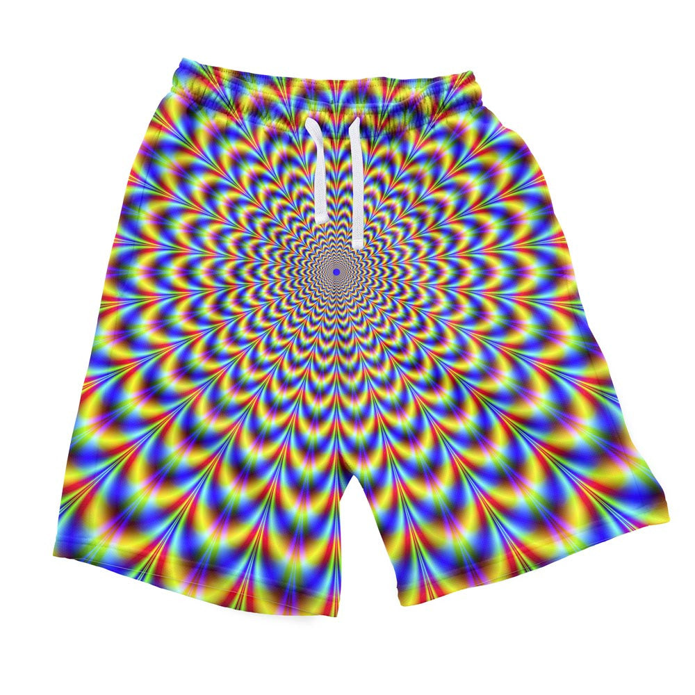 Fractal Pulse Men's Shorts-Shelfies-S-| All-Over-Print Everywhere - Designed to Make You Smile