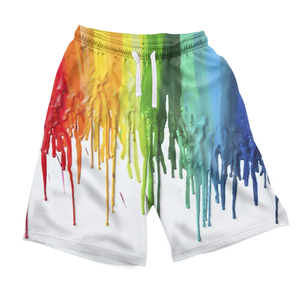 Melted Crayon Men's Shorts-Shelfies-| All-Over-Print Everywhere - Designed to Make You Smile
