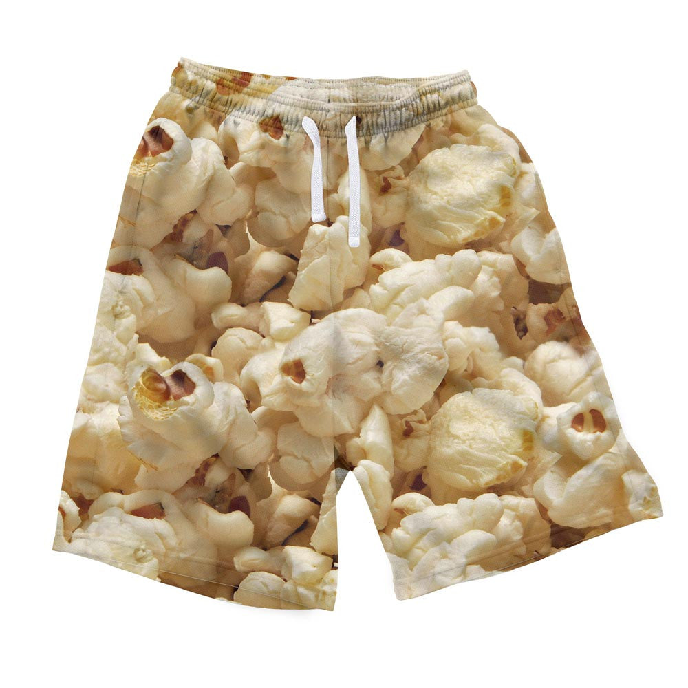 Popcorn Invasion Men's Shorts-Shelfies-| All-Over-Print Everywhere - Designed to Make You Smile