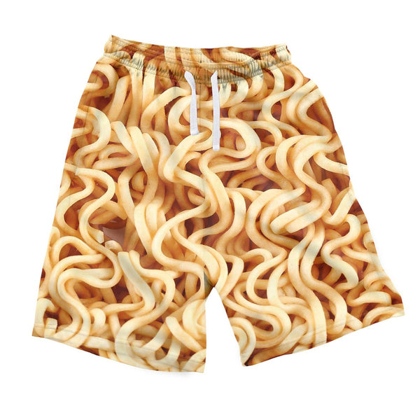 Ramen Invasion Men's Shorts-Shelfies-| All-Over-Print Everywhere - Designed to Make You Smile