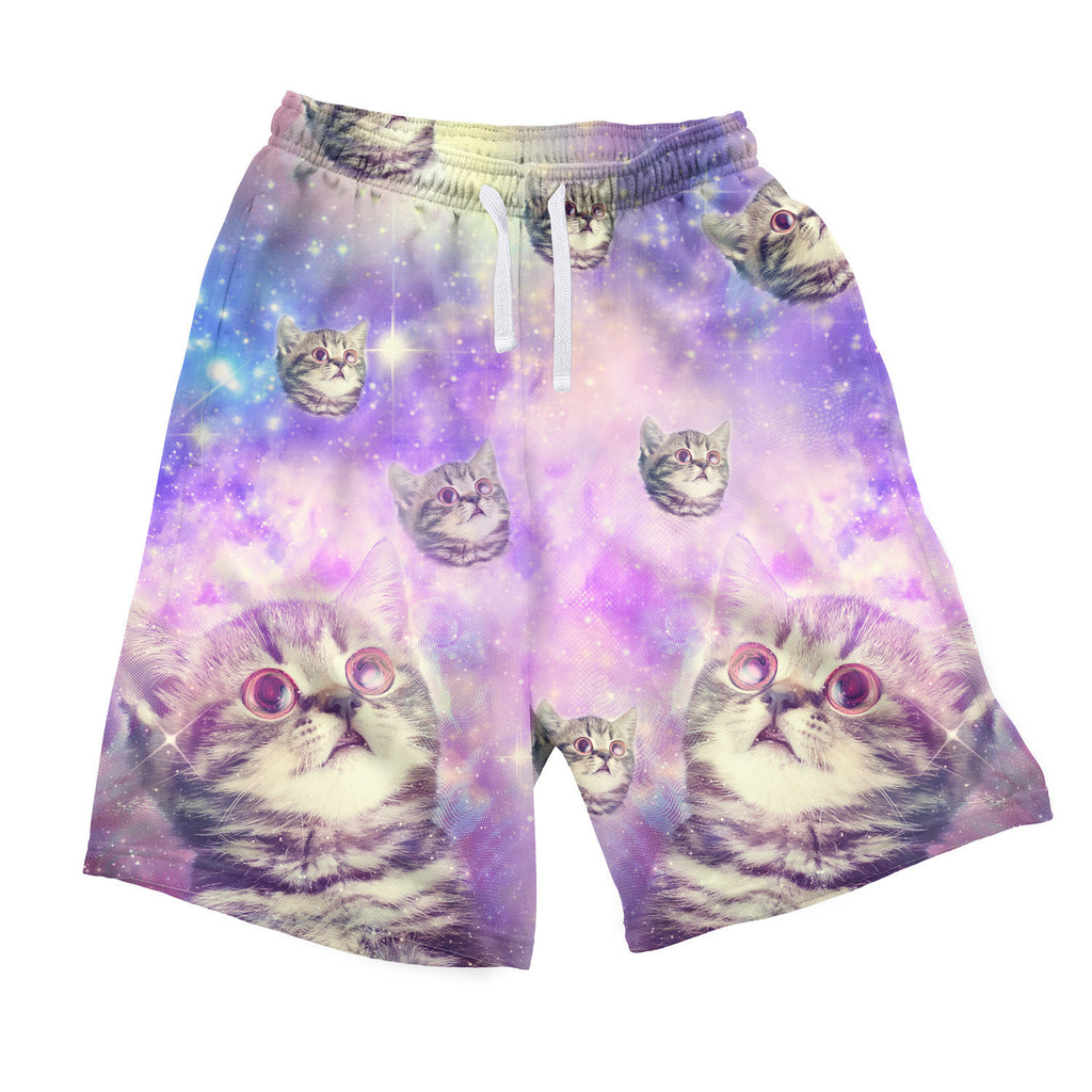Trippin' Kitty Kat Men's Shorts-Shelfies-| All-Over-Print Everywhere - Designed to Make You Smile
