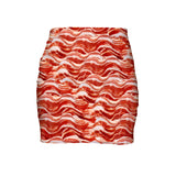 Bacon Invasion Mini Skirt-Shelfies-| All-Over-Print Everywhere - Designed to Make You Smile