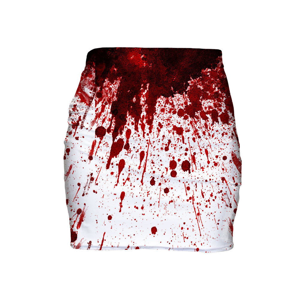 Blood Splatter Mini Skirt-Shelfies-| All-Over-Print Everywhere - Designed to Make You Smile