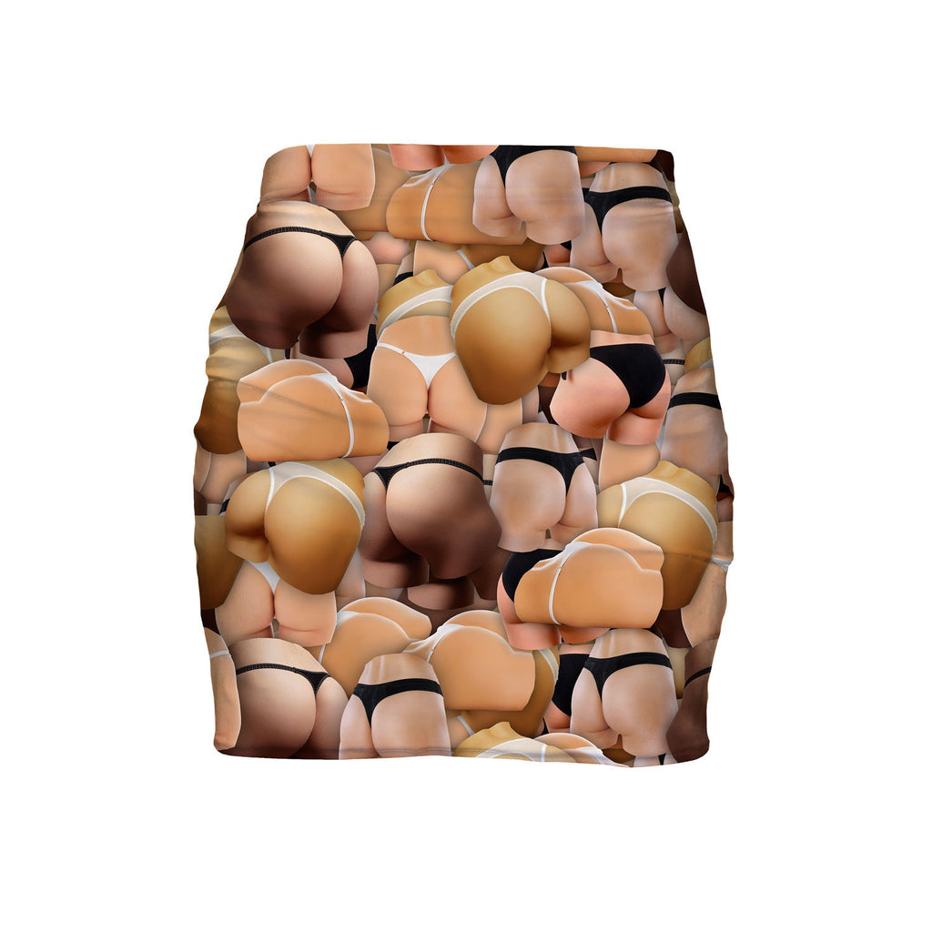 Booty Invasion Mini Skirt-Shelfies-| All-Over-Print Everywhere - Designed to Make You Smile