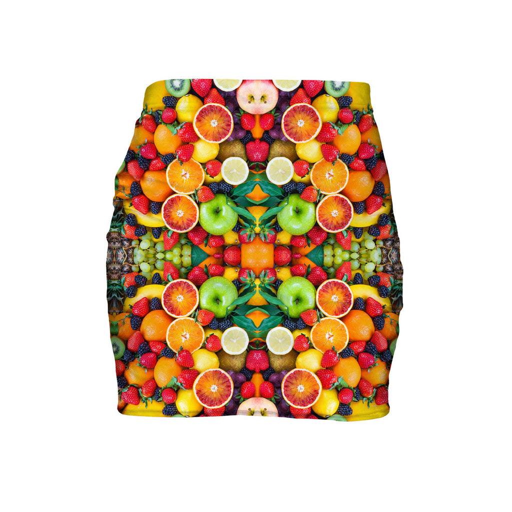 Fruit Explosion Mini Skirt-Shelfies-| All-Over-Print Everywhere - Designed to Make You Smile