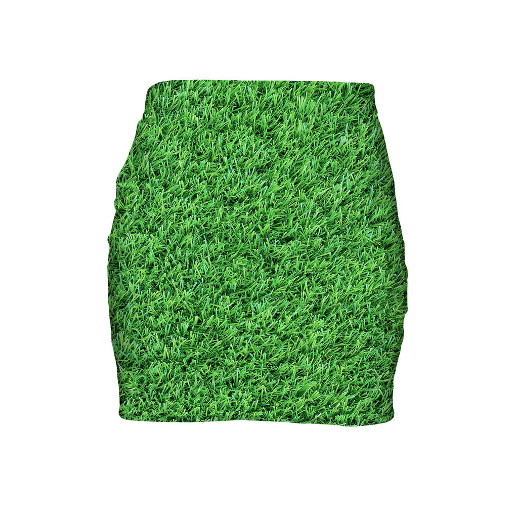 Grass Invasion Mini Skirt-Shelfies-| All-Over-Print Everywhere - Designed to Make You Smile