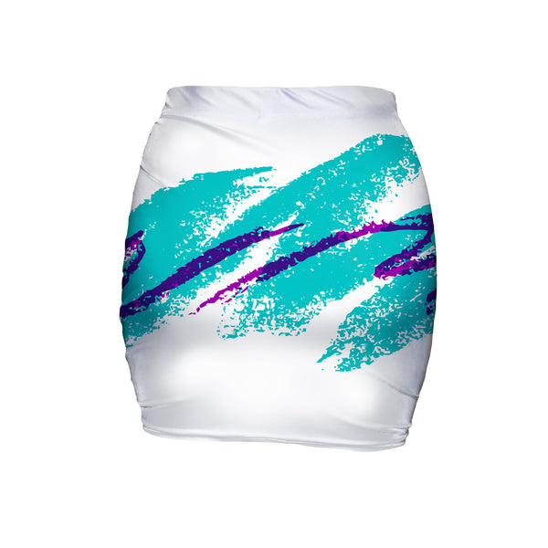 Jazz Wave Mini Skirt-Shelfies-| All-Over-Print Everywhere - Designed to Make You Smile