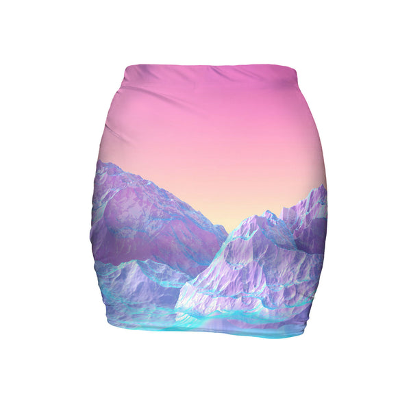 Mini Skirts - Pastel Mountains Mini Skirt