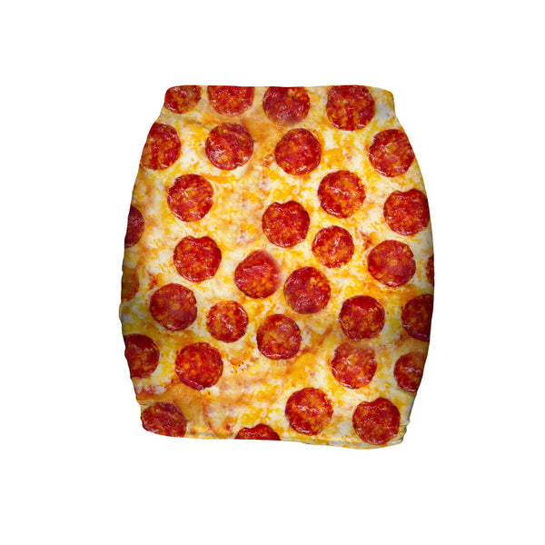 Pizza Invasion Mini Skirt-Shelfies-| All-Over-Print Everywhere - Designed to Make You Smile